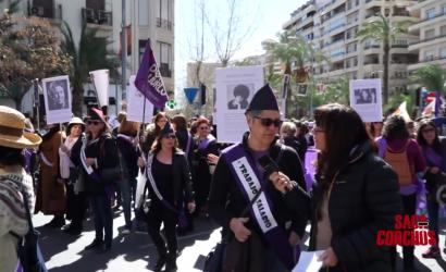 """Desfile del 6 de marzo en Alicante por el """"Día internacional de la mujer"""""""