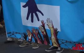 Manifestación a favor de los refugiados en Alicante.