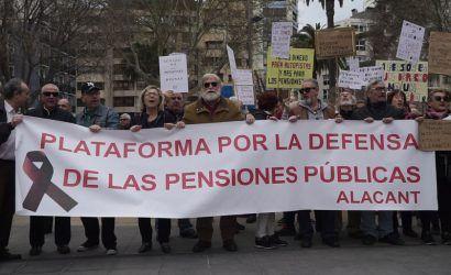 Manifestación de l@s pensionistas. Alacant 17M 2018